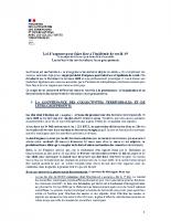 MINISTERE DE LA COHESION DES TERRITOIRES_2020-03-22_Loi d'urgence-dispositions relatives aux collectivités territoriales
