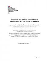 MINISTERE DE LA COHESION DES TERRITOIRES_2020-04-13_Continuité des services publics