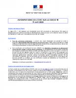 PREFET DU TERRITOIRE_2020-04-11_COVID-19_20200411_Lettre d'information des élus_n°1