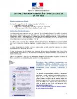 PREFET DU TERRITOIRE_2020-04-17_COVID-19_20200417_Lettre d'information des élus_n°2