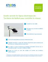 Survols en hélicoptère du réseau électrique
