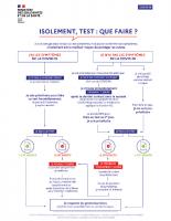 Covid arbre décisionnel tests et isolement
