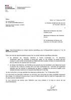 DIRECTION DES SERVICES DEPARTEMENTAUX DE L'EDUCATION NATIONNALE_2020-12-15_Courrier recommandation scientifique